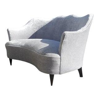 Italian Mid-Century Modern Attributed Gio Ponti Loveseat / Settee / Sofa For Sale