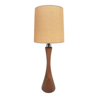 Mel Smilow Stacked Walnut Table Lamp For Sale