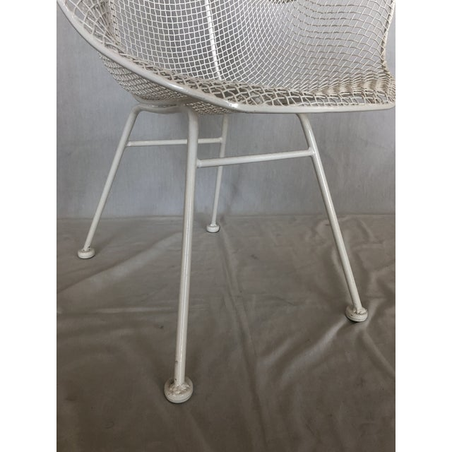 1960s Vintage White Sculptura Russell Woodard Patio Chairs- A Pair For Sale - Image 11 of 13
