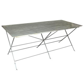 Slatted Steel Table For Sale