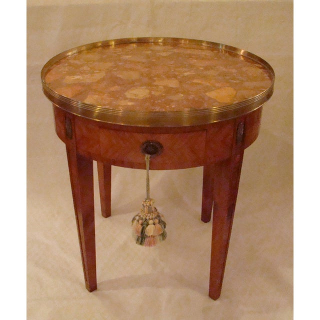 French Louis XVI Style Bouillotte Table - Image 2 of 11