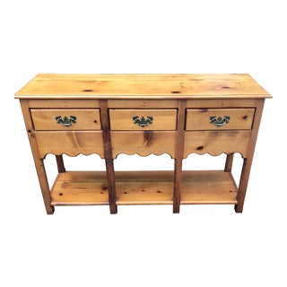 20th Century Folk Art Pine Farm Small Buffet /Console For Sale