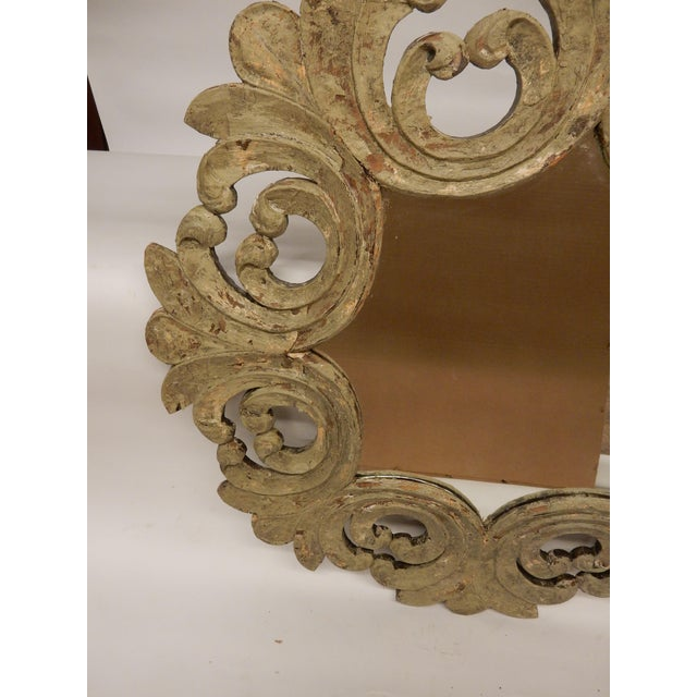 Italian 19th Century Italian Rococo Painted Mirror For Sale - Image 3 of 7