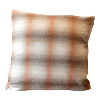 Duralee Highland Court English Wool Plaid Pillow Cover For Sale