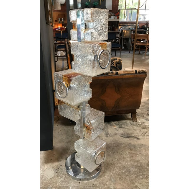 A very unique floor lamp in excellent condition, made of Murano glass, executed by Mazzega Italy in the 1960s. Consists of...