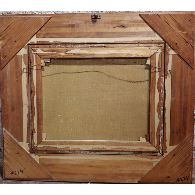 Glass 19th Century Dutch Ebonized Wood Large Mirror or Painting Frame For Sale - Image 7 of 8