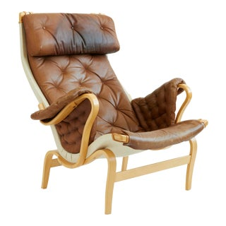 Leather Pernilla Chair by Bruno Mathsson For Sale