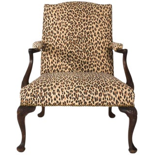 Early 20th Century Antique Mahogany Bergere Chair For Sale