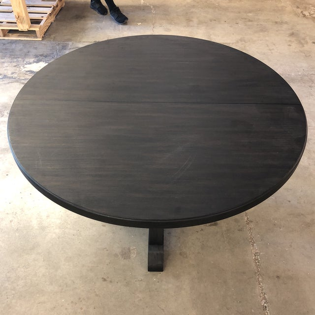 Brown Hooker Corsica Dining Black Wooden Dining Table For Sale - Image 8 of 10