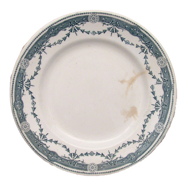 William Brownfield French & English Green Transferware Collection, S/3 For Sale - Image 4 of 7