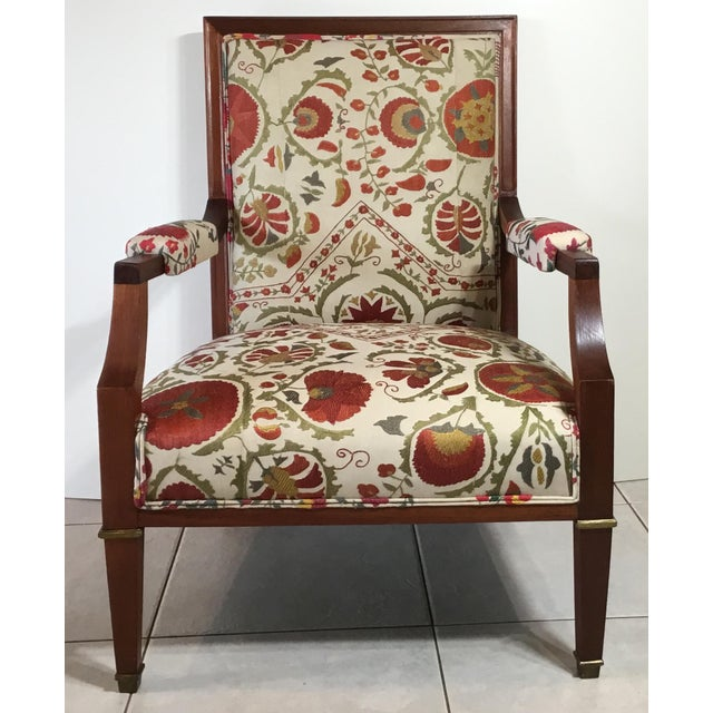 1960s Vintage French Suzani Armchair For Sale - Image 13 of 13