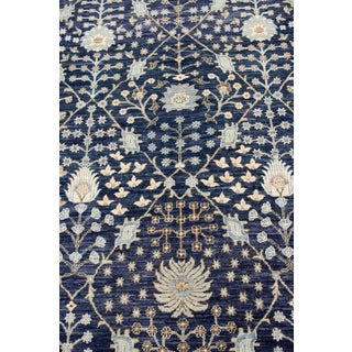 Afghan Blue Transitional Rug- 10′5″ × 14′ Preview