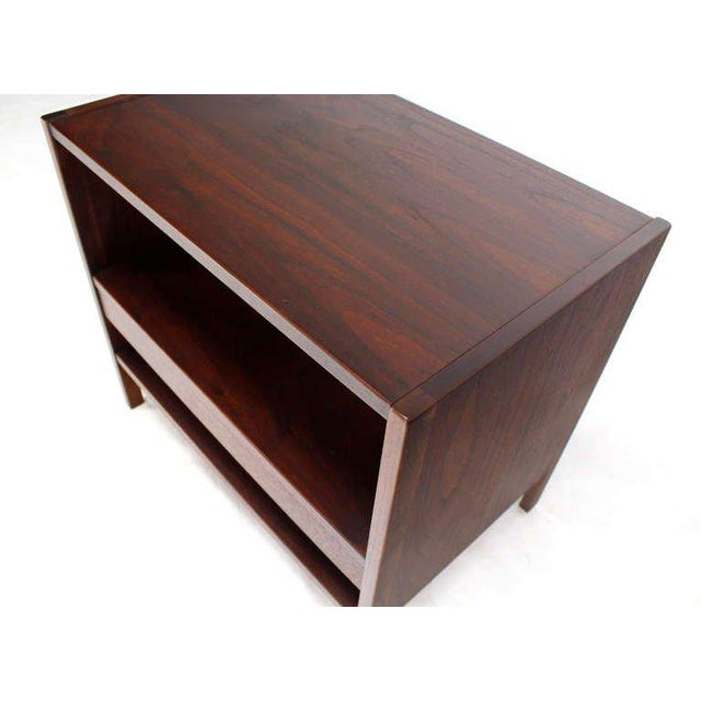 Danish Mid-Century Modern Walnut End Table For Sale In New York - Image 6 of 9