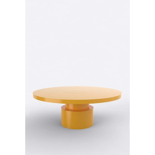 Postmodern Contemporary 100C Coffee Table by Orphan Work, 2020, Yellow For Sale - Image 3 of 3