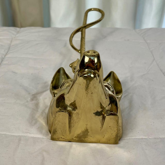 1980s English Brass Fox Doorstop For Sale - Image 10 of 11