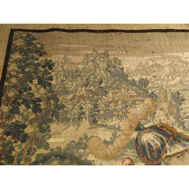 Large 17th Century Flanders Tapestry Depicting a Roman Scene For Sale In Dallas - Image 6 of 13