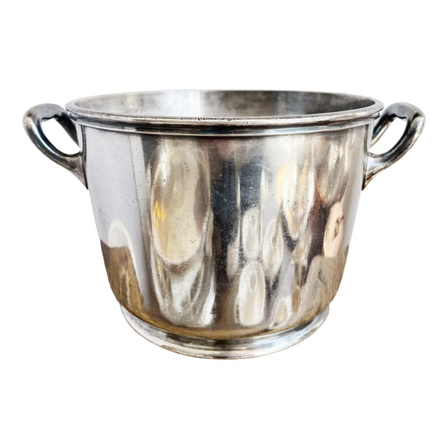Silver Plated Ice Bucket From South Shore Line Railroad For Sale
