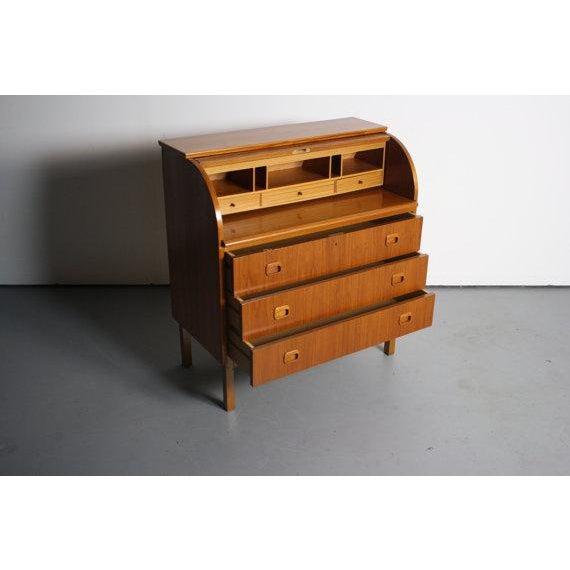 Danish Modern Teak Secretary Desk In Style of Egon Ostergaard - Image 5 of 5