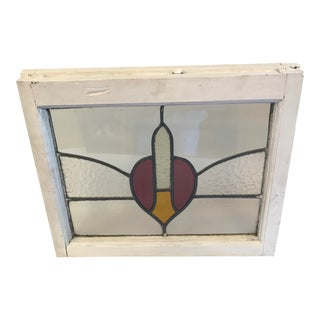 European Antique Stained Glass Window For Sale
