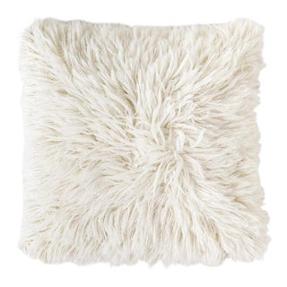 Erica Tanov Alpaca Shag Pillow in Natural For Sale