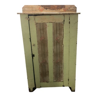 Vintage Distressed Reclaimed Wood Wardrobe For Sale