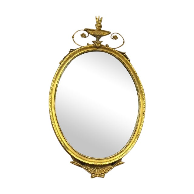 Oval French Carved Gilt Mirror - Image 1 of 6