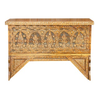 Exquisite Bridal Syrian Marquetry Chest; Circa 1890 For Sale