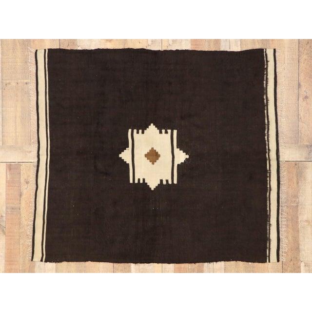 Textile Vintage Turkish Angora Blanket Rug - 04'00 X 04'06 For Sale - Image 7 of 9