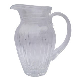 Vintage Crystal Glass Water Pitcher For Sale
