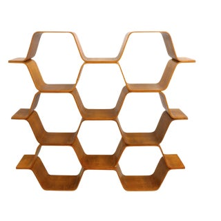 "Bentwood ""Honeycomb"" Shelving Unit Original Bill Curry For Sale"