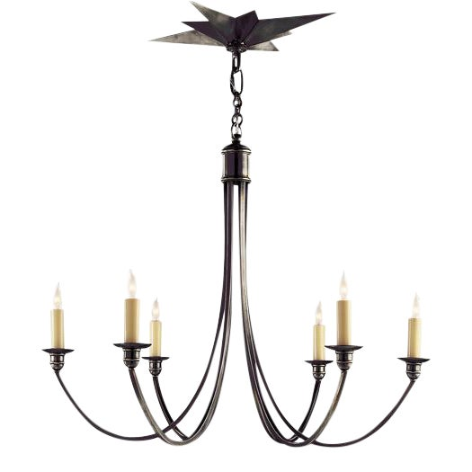 Visual Comfort Eric Cohler Venetian 6 Light Bronze Chandelier For Sale