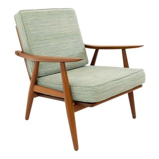 Vintage Mid Century Hans Wegner for Getama Ge-270 Danish Teak Lounge Chair For Sale