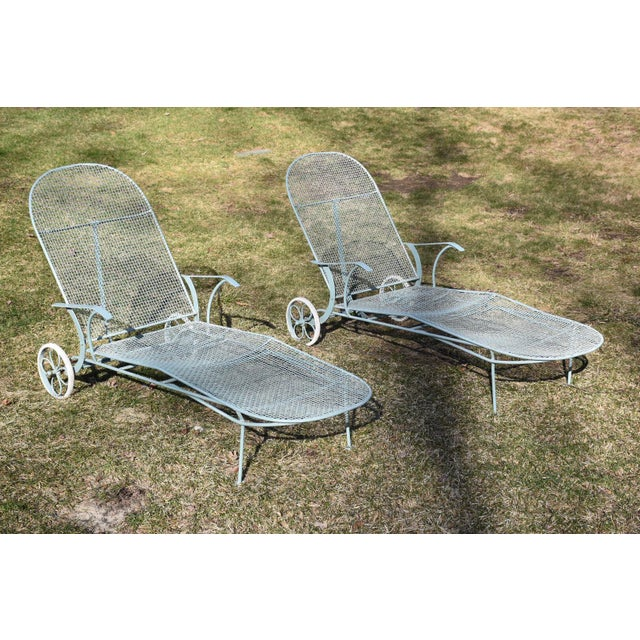 Russell Woodard Sculptura Patio Chaise Lounges - A Pair - Image 2 of 11