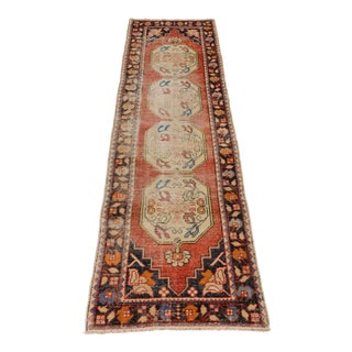1980s Vintage Turkish Runner Rug - 3′ × 9′8″ For Sale