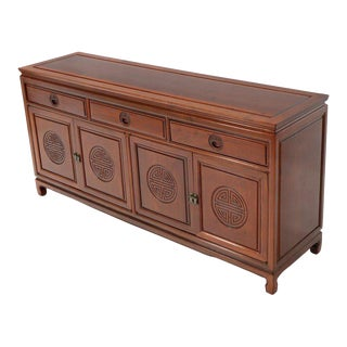 Mid-Century Modern Solid Rosewood Chinese Sideboard or Credenza For Sale