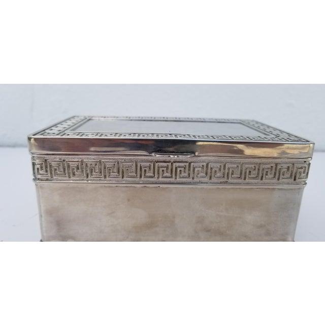 1980s 1980s Vintage Italian Vera Lucino Decorative Silver Plate Box For Sale - Image 5 of 12