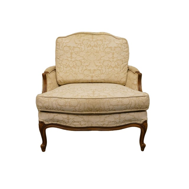 Late 20th Century Vintage Ethan Allen Country French Regency Accent Arm Chair For Sale - Image 10 of 10