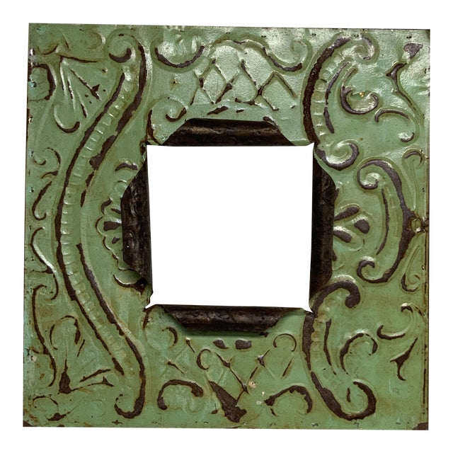 Vintage Architectural Tin Ceiling Frame For Sale