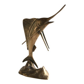 Vintage Brass Sword Fish Figurine