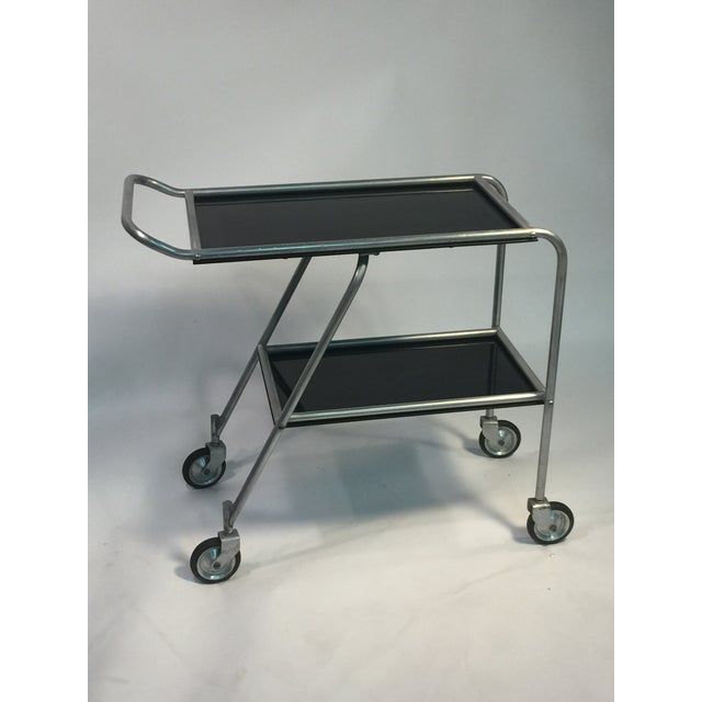 Aero-Art bar cart designed by Frantz Industries of Los Angeles was designed in the 1930s for use as a bar cart on The DC-3...