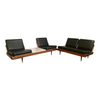 Vintage Mid Century Danish Modern Modular Sectional Sofa Love Seat For Sale