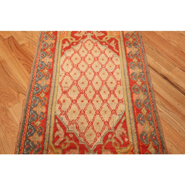 Gold Antique Arts and Crafts Turkish Oushak Runner Rug - 2′10″ × 26′ For Sale - Image 8 of 10