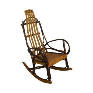 Bentwood Hickory and Oak Vintage Twig Rocker For Sale