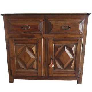 19th Century Spanish Walnut Cabinet With Drawers For Sale