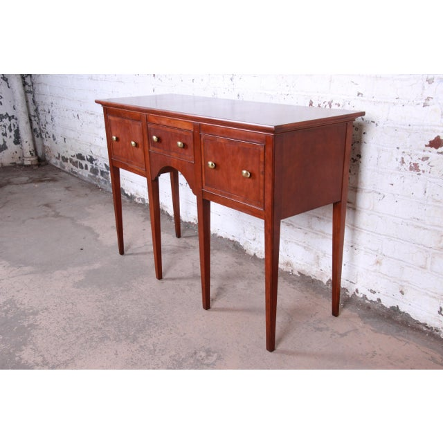 Hepplewhite Hekman Regency Style Cherry Wood Sideboard Credenza For Sale - Image 3 of 13