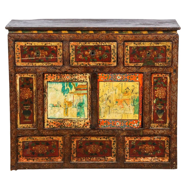 Antique Tibetan Monastery Cabinet - Image 1 of 6