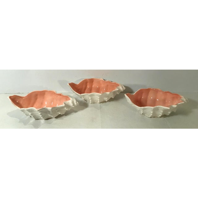 Ceramic Vintage Fitz and Floyd Shell Shaped Bowls - Set of 3 For Sale - Image 7 of 13