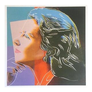 "Andy Warhol Estate Vintage 1989 Pop Art Lithograph Print "" Ingrid Bergman Herself "" 1983 For Sale"