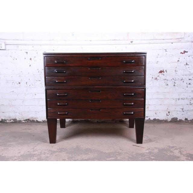 Vintage Dark Oak Blueprint Flat File For Sale - Image 11 of 11