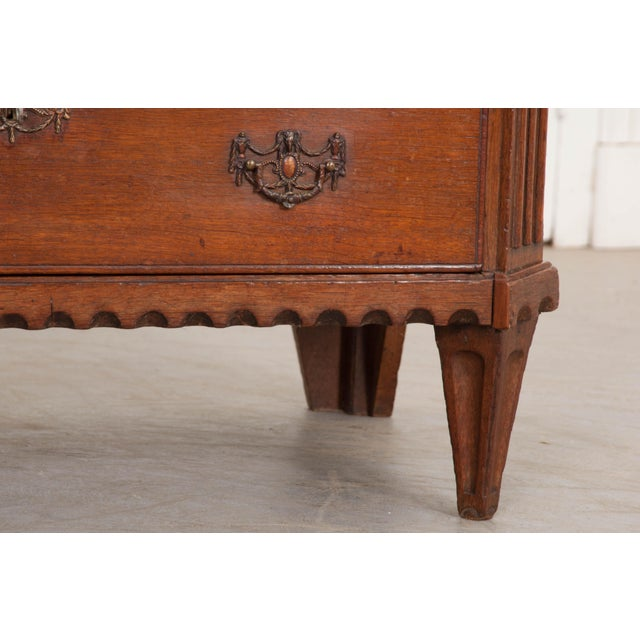 English 18th Century Jacobean Oak Chest of Drawers For Sale - Image 10 of 12